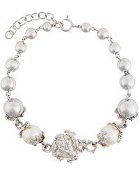 Kasun - Orb & 3 Pearls Bracelet - Lyst
