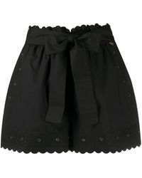 Twin Set Embroidered Detail Shorts - Black