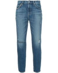 Hysteric Glamour - Distressed Slim Fit Jeans - Lyst