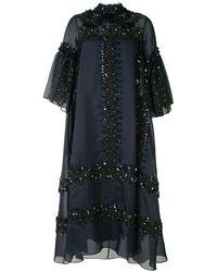 Biyan エンブロイダリー ドレス - ブルー