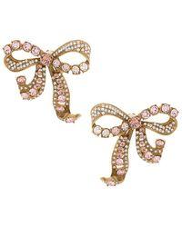 Dolce & Gabbana - Crystal Bow Clip-on Earrings - Lyst