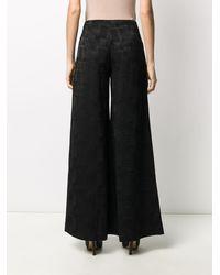 Andrea Ya'aqov High-waisted Wide-leg Trousers - Black