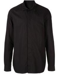 Rick Owens ポインテッドカラー シャツ - ブラック