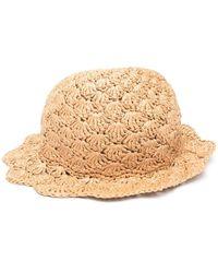 RED Valentino Плетеная Шляпа - Естественный