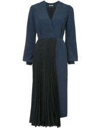 Dalood プリーツパネル ドレス - ブルー