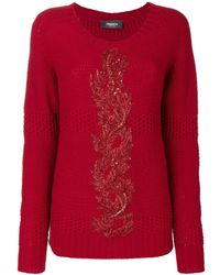 Jo No Fui Embroidered Knit Sweater