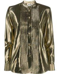 Saint Laurent Рубашка С Эффектом Металлик