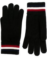 Moncler - Handschuhe mit gestreiften Kanten - Lyst