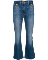 Elisabetta Franchi - Cropped Flared Jeans - Lyst