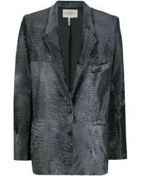 Hermès Blazer à design texturé pre-owned - Gris