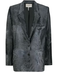 Hermès Фактурный Блейзер - Серый