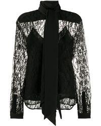 Givenchy Кружевной Топ - Черный