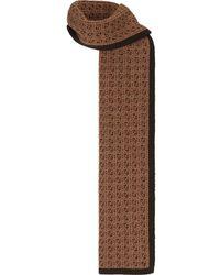 Fendi Intarsien-Schal mit FF - Braun