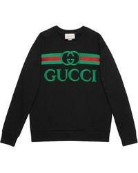 Gucci Свитшот Из Джерси С Вышивкой - Черный