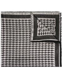 Karl Lagerfeld K/kameo ジャカード スカーフ - ブラック