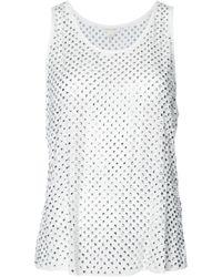Marc Jacobs クリスタル装飾 タンクトップ - マルチカラー