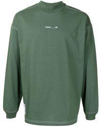 Izzue Contrast-stiching Cotton T-shirt - Green