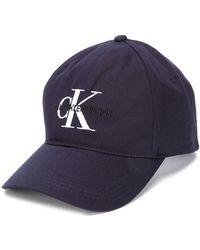 Calvin Klein Casquette à logo - Bleu