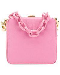 the VOLON - Chunky Chain Box Handbag - Lyst