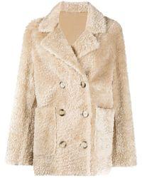 Sylvie Schimmel Reversible Shearling Coat - Natural