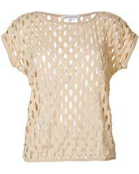 Stefano Mortari - Perforated T-shirt - Lyst