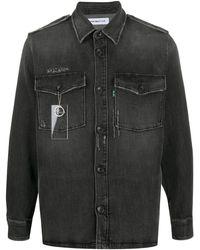 Department 5 Faded Denim Shirt - Black