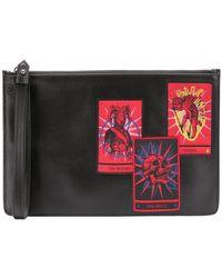 Marcelo Burlon Tarot Clutch Bag - Black