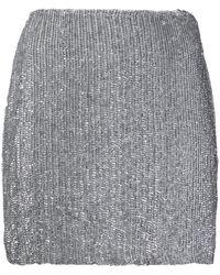 retroféte スパンコール ミニスカート - メタリック