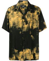 Represent Клетчатая Рубашка С Принтом - Черный