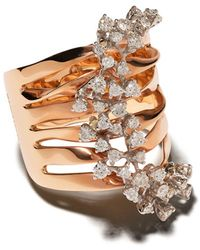 Brumani 18kt Rose Gold Layered Diamond Ring - Metallic