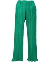 Bambah Playa Plissé-effect Trousers - Green