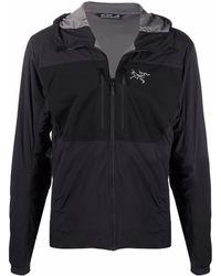 Arc'teryx フーデッドジャケット - ブラック