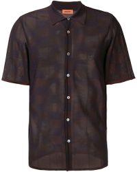 Missoni バイカラーシャツ - ブラック