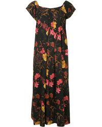 Mother Of Pearl Rachel Floral-print Dress - Zwart