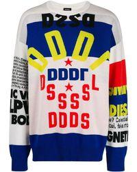 DIESEL Double knit jacquard sweater - Weiß