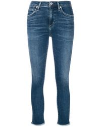 Citizens of Humanity - Frayed Hem Cropped Skinny Jeans - Lyst