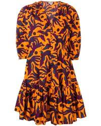 KENZO - Bird Print Dress - Lyst