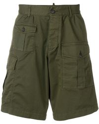 DSquared² Deconstructed Cargo Shorts - Green