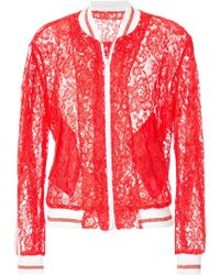 Ainea - Lace Bomber Jacket - Lyst