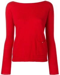 Liu Jo - Fitted Knitted Top - Lyst