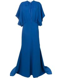 Esteban Cortazar Drape Design Gown - Blue