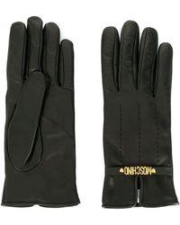 Moschino Перчатки С Логотипом - Черный