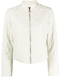 Hermès 2010 Pre-owned Diamond-quilted Jacket - White