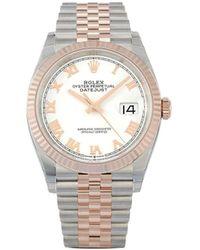 Rolex 2020 Ongedragen Datejust Horloge - Wit