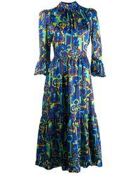 La DoubleJ Midi Visconti Dress - Blue