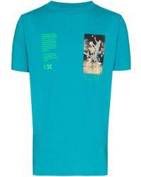 Off-White c/o Virgil Abloh Oversized-T-Shirt - Blau