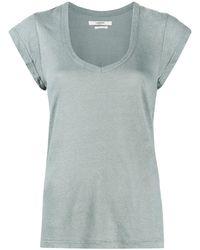 Étoile Isabel Marant Vネック Tシャツ - ブルー
