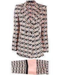 Elisabetta Franchi Monogram Two-piece Suit - Pink
