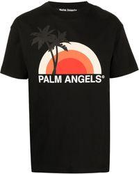 Palm Angels T-shirt à imprimé graphique - Noir
