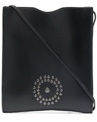 10 Corso Como Logo-studded Leather Shoulder Bag - Black